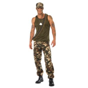Khaki Camo Guy Adult Costume