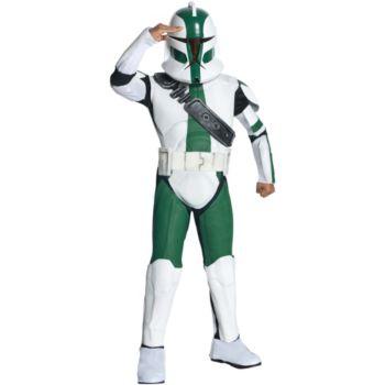 Star Wars The Clone Wars - Clone Trooper Commander Gree Child Costume