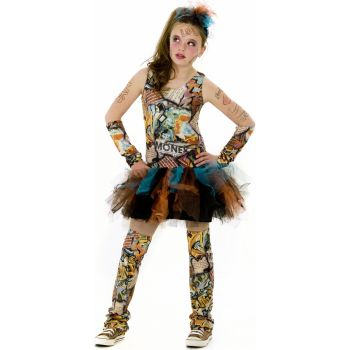 Graffiti Girl Child Costume
