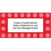 Red Dots Custom Banner