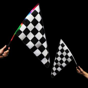 L.E.D. CHECKERED FLAG