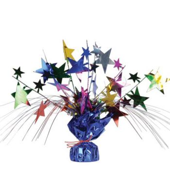 Multi Color Star Centerpiece