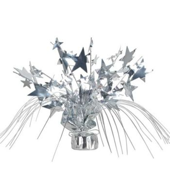 "Silver Star  11"" Centerpiece"
