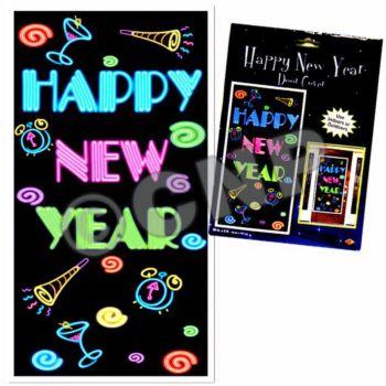 NEW YEAR'S NEON DOOR COVER