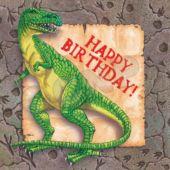 Dinosaur Party Birthday Napkins - 16 Pack