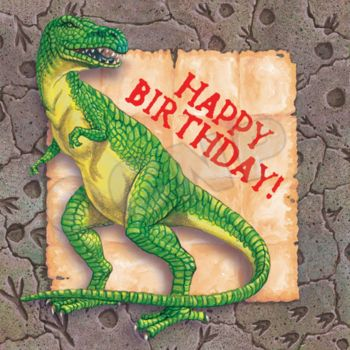 DINOSAUR PARTY BIRTHDAY NAPKINS