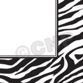 Zebra Print Lunch Napkins  - 16 Pack