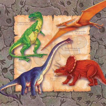 DINOSAUR PARTY LUNCH NAPKINS