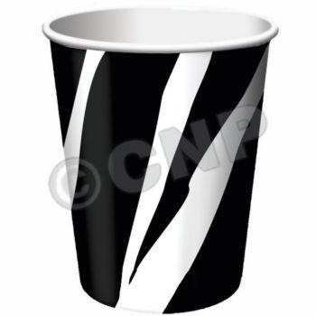 ZEBRA PRINT 9 oz.  CUPS