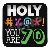 "70 Holy Beep 7"" Square Plates"