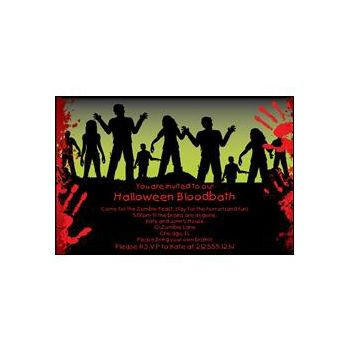 I Love Zombies Personalized Invitations