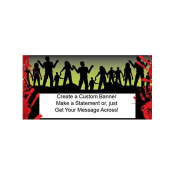 I Love Zombies Custom Banner (Variety of Sizes)