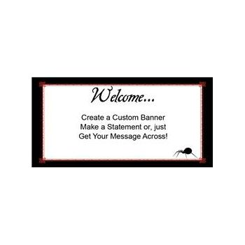 Simply Halloween Custom Banner (Variety of Sizes)