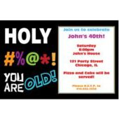 Holy Bleep Birthday Personalized Invitations