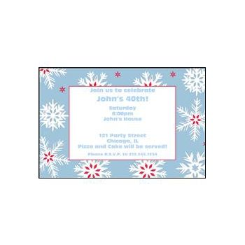 Nordic Snow Personalized Invitations