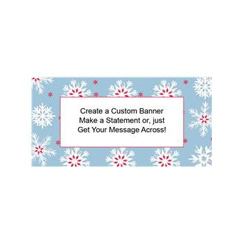 Nordic Snow Custom Banner (Variety of Sizes)