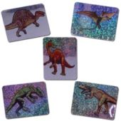 "Dinosaur Mylar 1 3/4"" Stickers - 144 Pack"