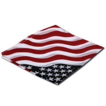 American Flag Bandanas - 21 Inch, 12 Pack