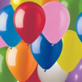 "Assorted Color Latex 9"" Balloons - 100 Per Unit"
