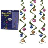Peace Sign Whirl Decorations-3 Pack