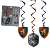 Medieval Whirl Decorations-5 Pack