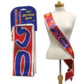 50 Birthday Satin Sash