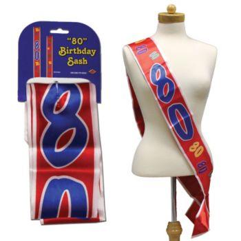 80th BIRTHDAY SATIN SASH