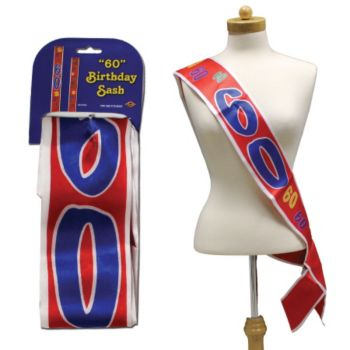 60th BIRTHDAY SATIN SASH