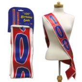 100th Birthday Satin Sash