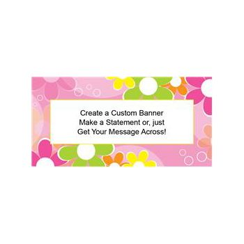 Funky Retro Flowers Custom Banner