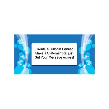Sparkling Blue Circles Custom Banner