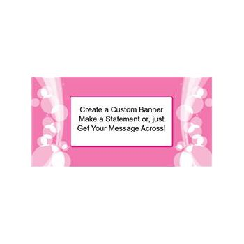 Sparkling Pink Circles Custom Banner