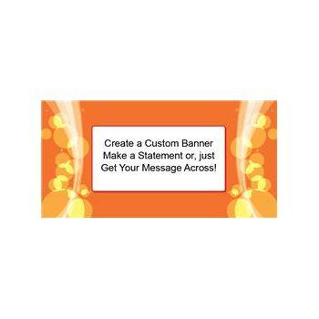 Sparkling Orange Circles Custom Banner