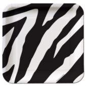 "Zebra Print 7"" Plates"