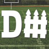 Football D-Fence Cutout
