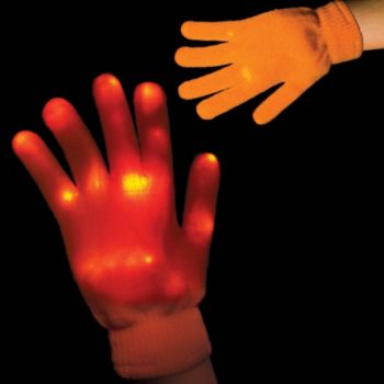 Orange LED Gloves