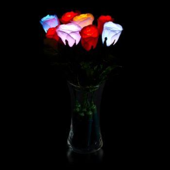 L.E.D. Silk Roses