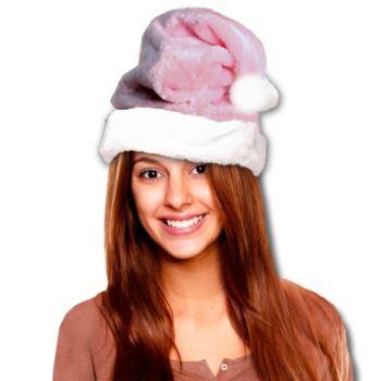Mrs Claus Pink  Plush Santa Hat