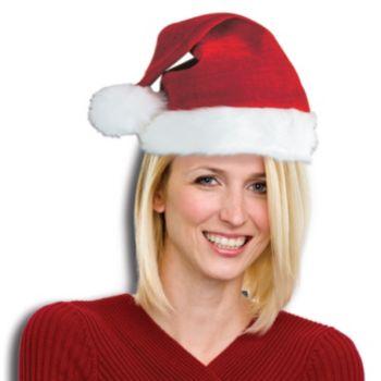 Santa Claus  Deluxe Plush Hat