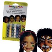 Assorted Color Face Crayons - 6 Pack