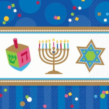 Hanukkah Celebrate  Beverage Napkins