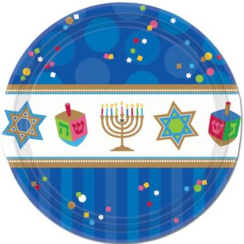 "Hanukkah Celebrate 7"" Plates"