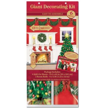 Christmas Fireplace  Scene Setter Kit