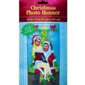 Santa & Mrs Claus Photo Banner
