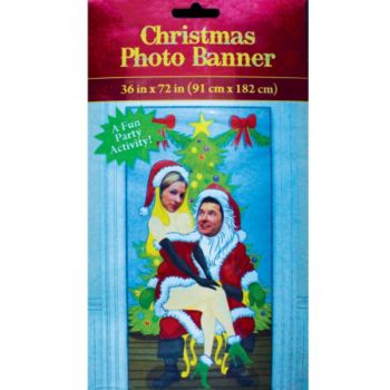 Santa & Mrs Claus Photo Banner