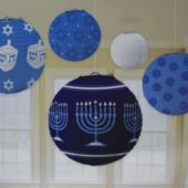 Hanukkah Lantern Set-6 Per Unit