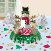 Snowman Fringe Centerpiece Kit