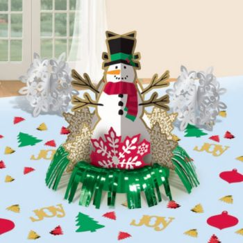 Snowman Fringe Centerpiece Kit