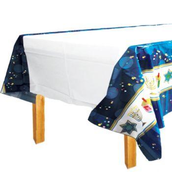 Hanukkah Celebrate Plastic Tablecover