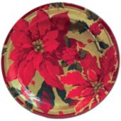 "Poinsettia Elegance 10"" Dinner Plates"
